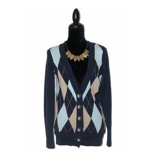 Zinc Argyle Cardigan Sweater